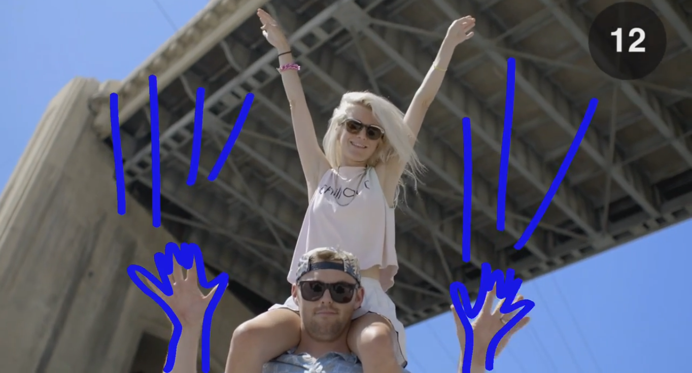 Still form promo video for Snapchat Stories featuring Goldroom