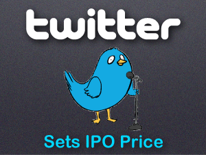 twitter sets IPO price