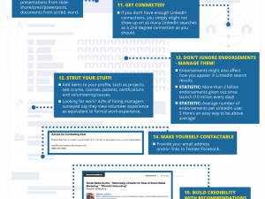 17 LinkedIn profile must-haves infographic
