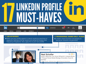 17 LinkedIn profile must-haves infographic crop