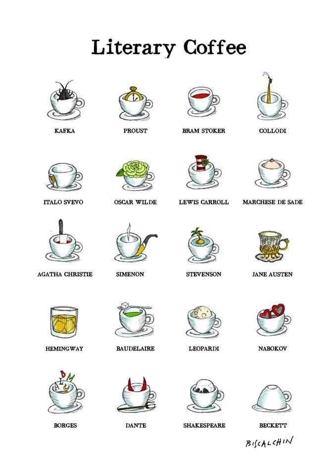 The Literary Meaning Of Coffee Poster