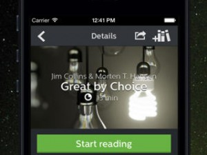 """Screenshot of Blinkist app """"a universe full of knowledge"""""""