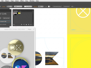 screenshot of creating buttons using context illustrator plugin