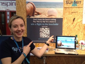 Darja Gutnick founder and CEO of Triptourage exhibiting at Web Summit 2013