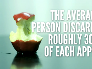 the average person discards roughly 30% of each apple