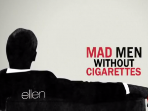 ellen degeneres mad men no smoking screencap