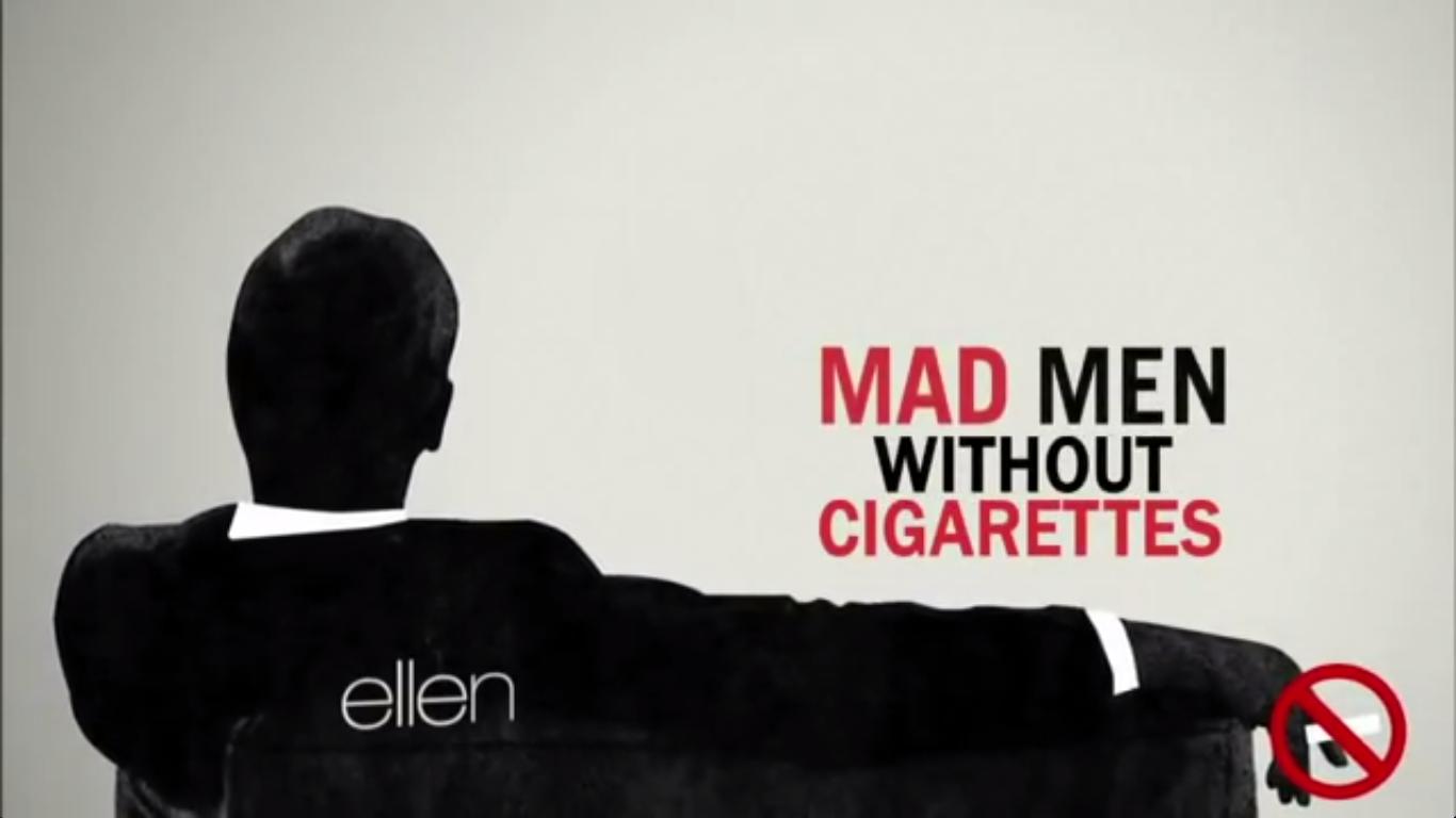 ellen degeneres mad men no smoking screencap