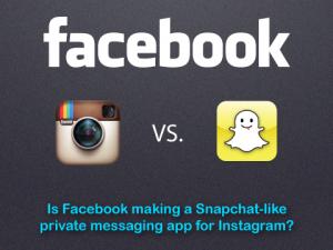 facebook snapchat-like service for instagram