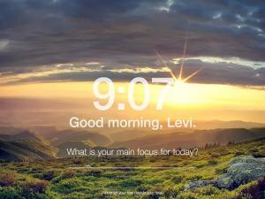 Momentum new tab page screenshot