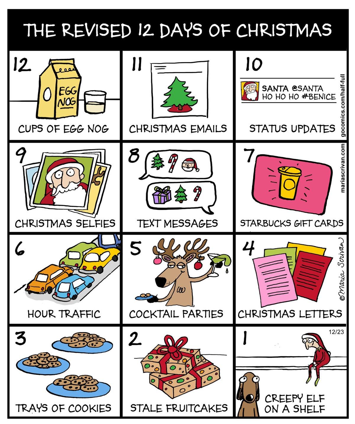 modern day 12 days of christmas