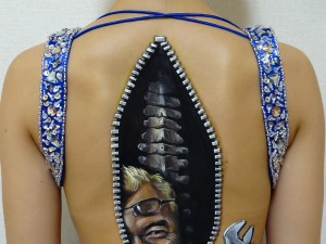 the spine fixer mr. tokoro body paint by Hikaru Cho