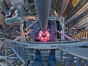 New York Times Square Ball Drop From Above