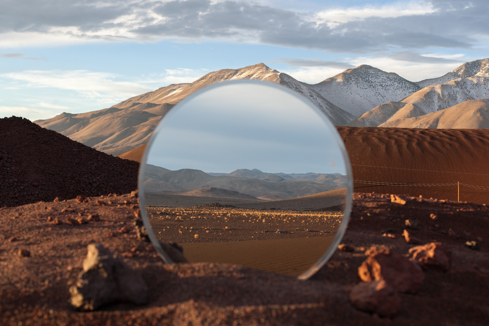 interesting landscape photographs with mirrors to reflect