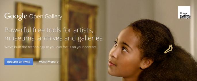 Google Open Gallery website screenshot