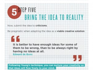 how to be more creative infographic