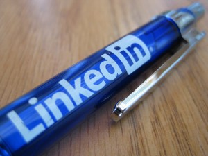 photo of LinkedIn pen by Sheila Scarborough