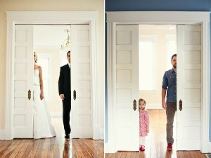 Father and daughter recreate couple's wedding photographs photography by Melanie Pace