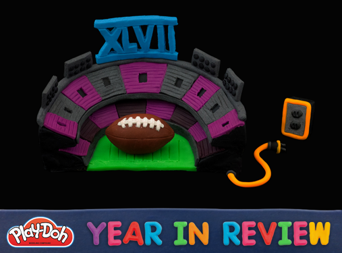 Play-Doh year in review superbowl 2013 blackout