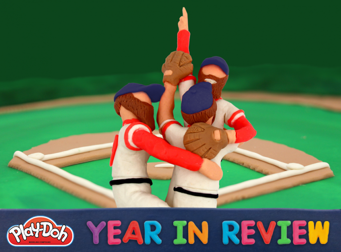 Play-Doh year in review 2013 the Boston Red Sox win the World Series