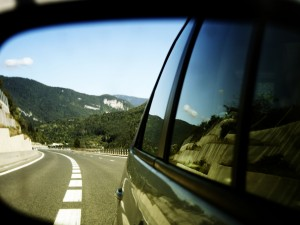 looking in the rear view