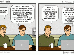 What are friends for comic by the Joy of Tech