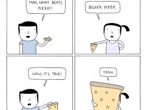 what beats pizza comic by poorly drawn lines