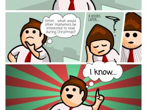xmas greeting comic