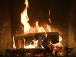 yule log fire