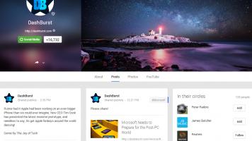 Dashburst's Google+ page