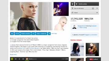 Jessie J's page on last.fm