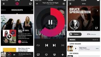 Screenshots of Beats Music iOS app
