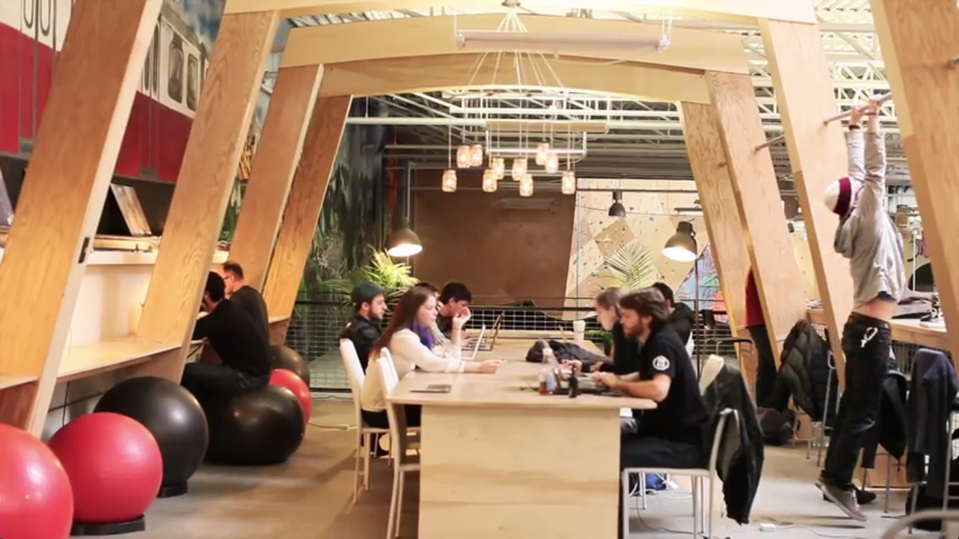 Get Fit At This Coworking Space With Built In Pull Up Bars