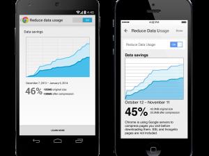 Chrome reduce data setting screenshots