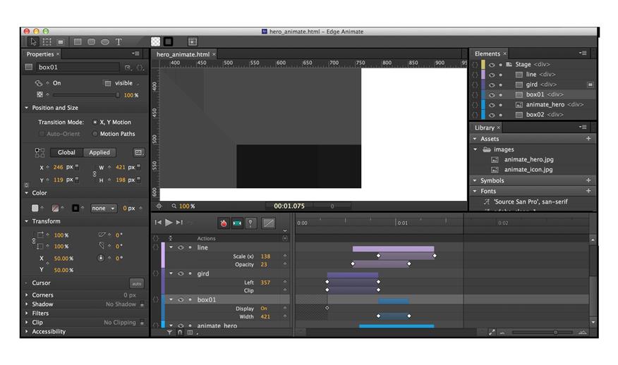 Edge Animate CC screenshot