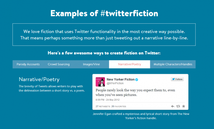 examples of twitter fiction