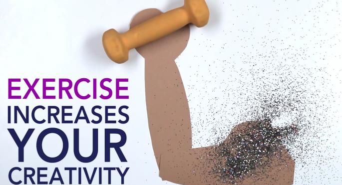 exercise helps creativity