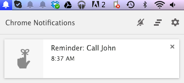 Google now for desktop reminder