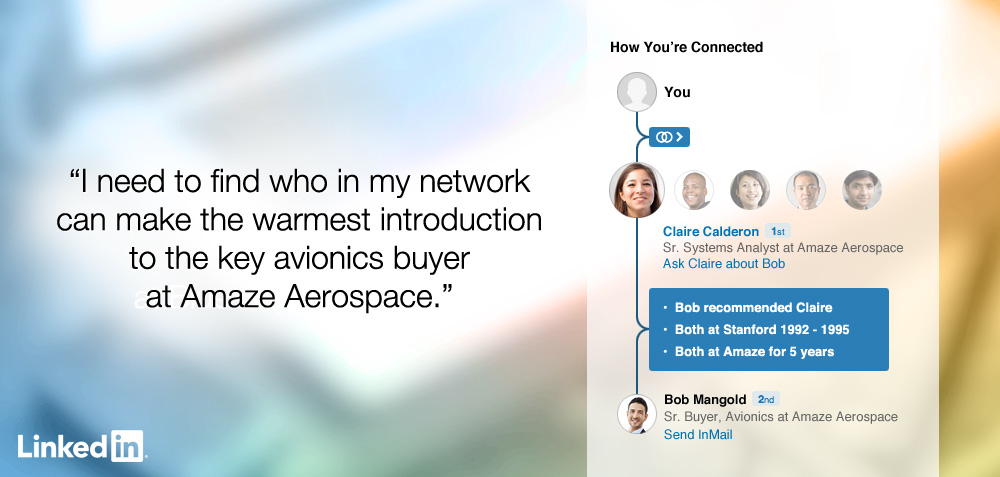 How you're connected on LinkedIn screenshot