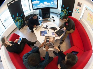 IBM Watson group fisheye photo