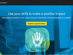 LinkedIn Volunteer Marketplace screenshot