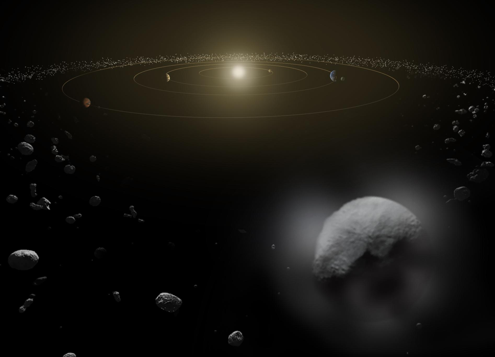 Artist depiction of dwarf planet Ceres
