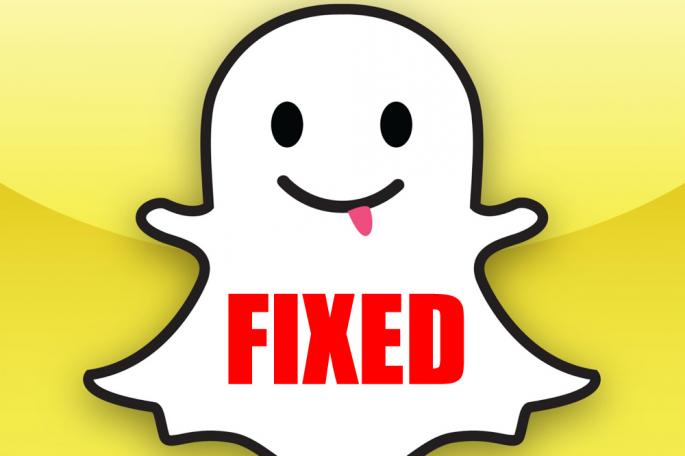 snapchat app security fix