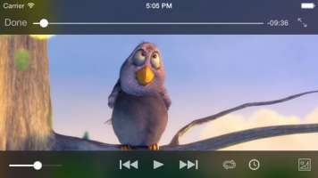 VLC player screenshot of movie playback
