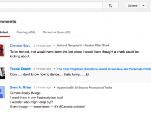 YouTube comments page screenshot