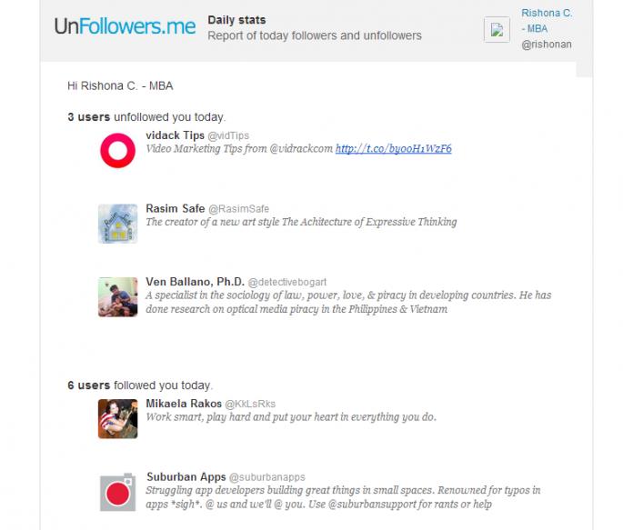 Unfollowers