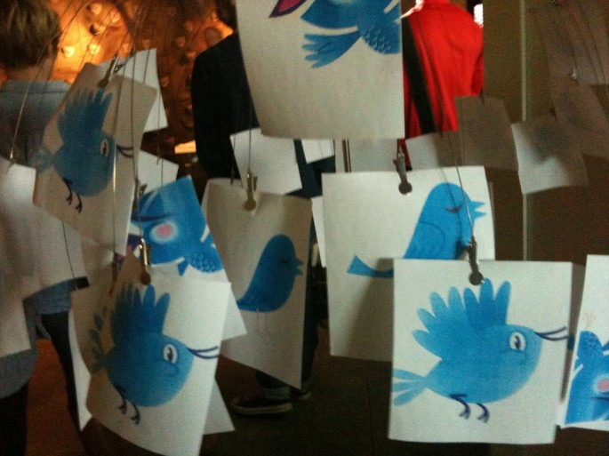 Painted Twitter Birds