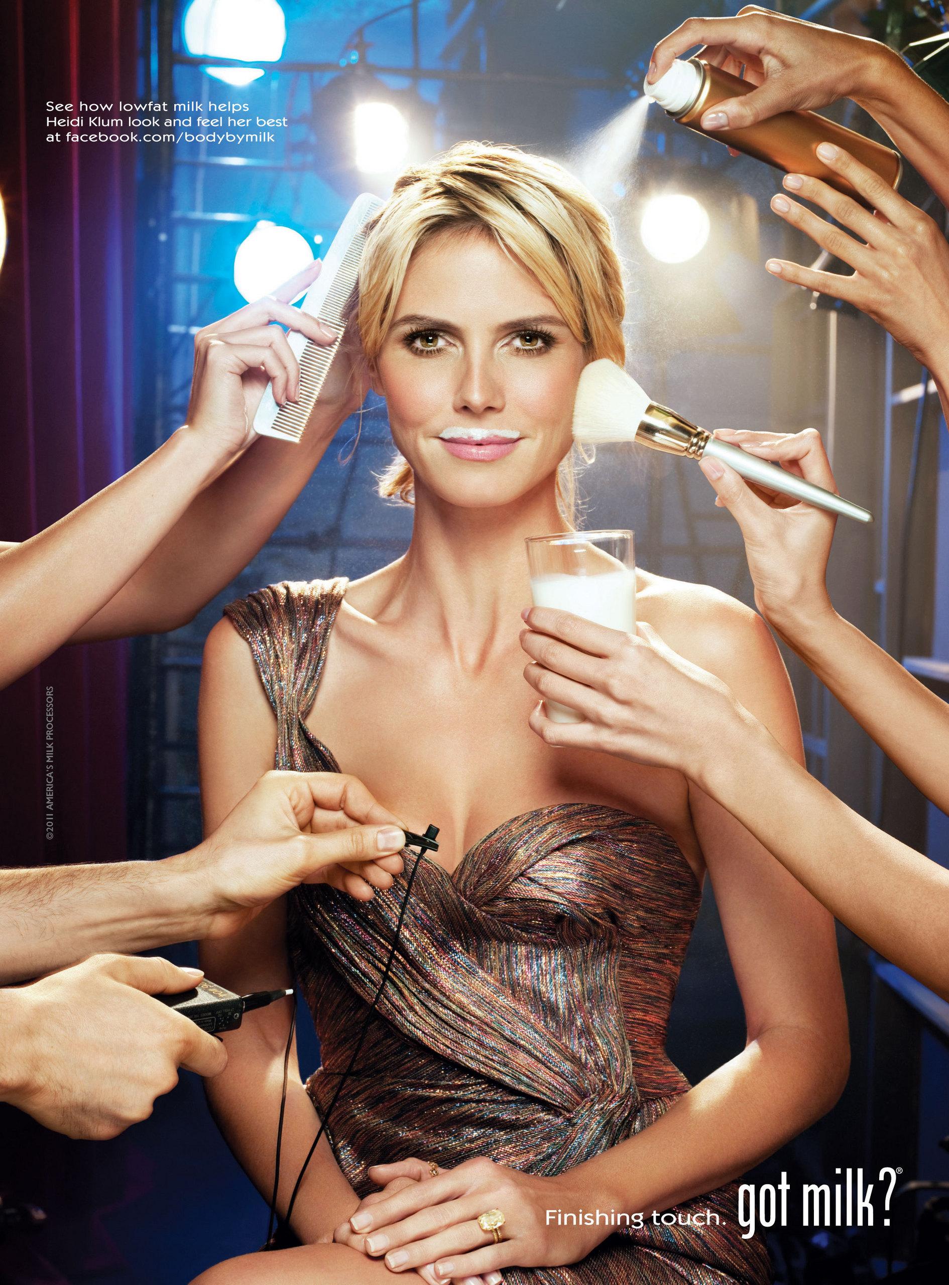 Heidi Klum Got Milk ad