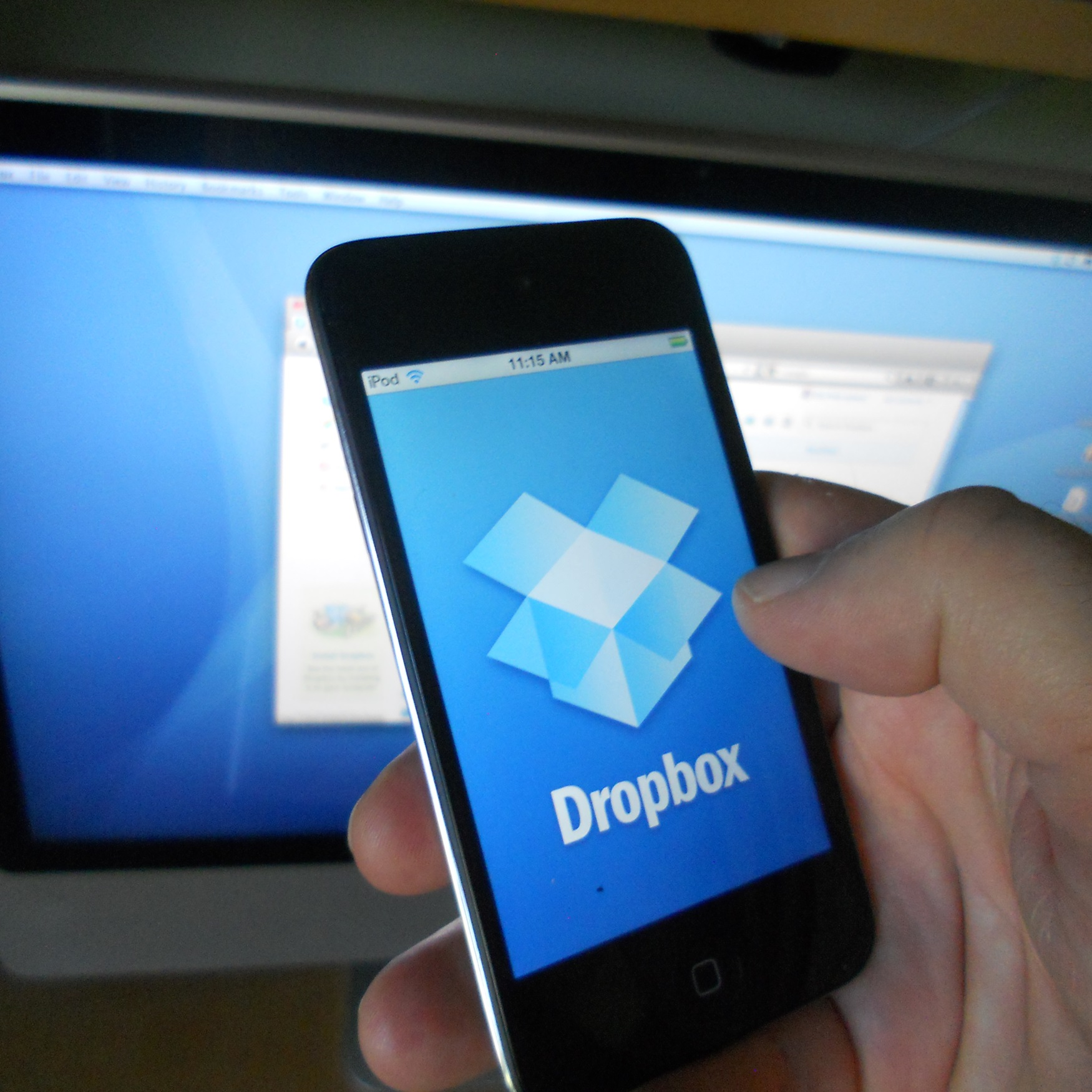 dropbox on a phone