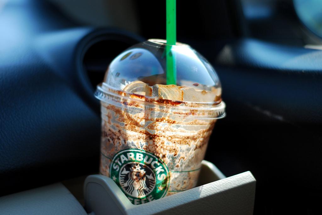 empty starbucks drink cup