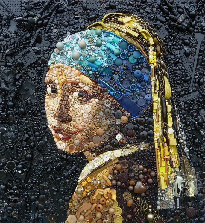 Girl with a pearl earring by Jane Perkins
